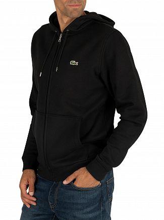 Lacoste Black Logo Zip Hoodie
