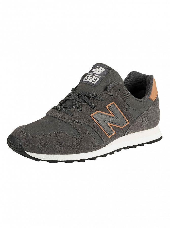 New Balance Dark Grey 373 Suede Trainers