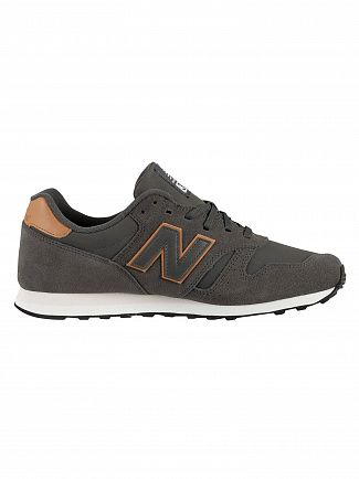 New Balance Dark Grey 373 Suede Trainers
