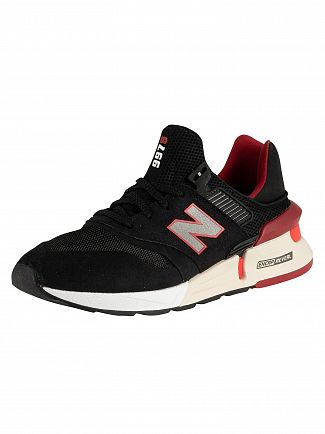 New Balance Black/Red 997 Trainers