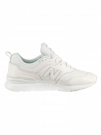 New Balance White 997H Leather Trainers