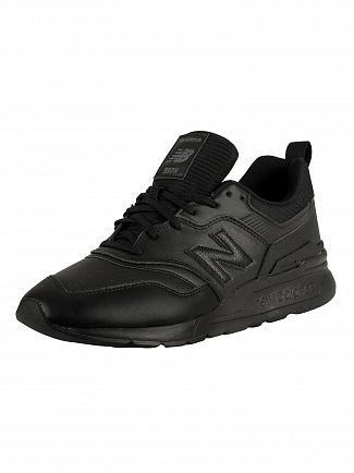 New Balance Black/Black 997H Leather Trainers