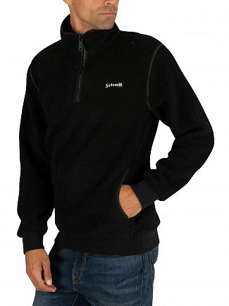 Schott Black Swandric Zip Sweatshirt