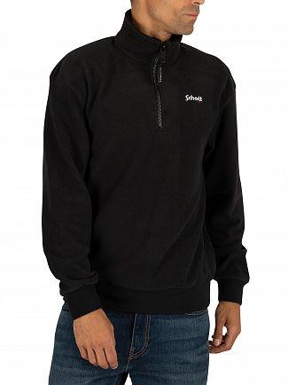 Schott Black Swbarret Zip Sweatshirt