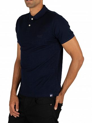 Superdry Midnight Navy Classic Lite Micro Pique Polo Shirt