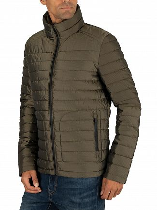 Superdry Army Green Double Zip Fuji Jacket