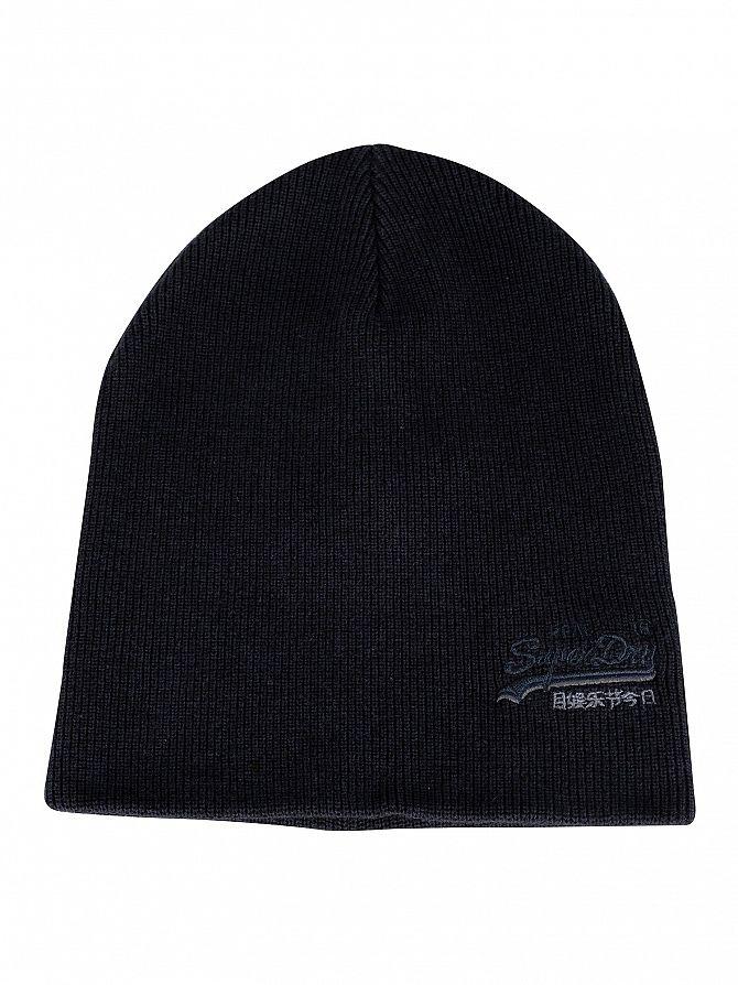 Superdry Downhill Navy/Black Grit Orange Label Beanie