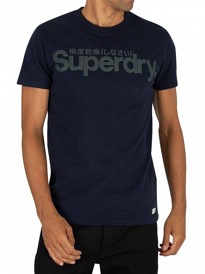 Superdry Navy Retro Sport Tonal T-Shirt