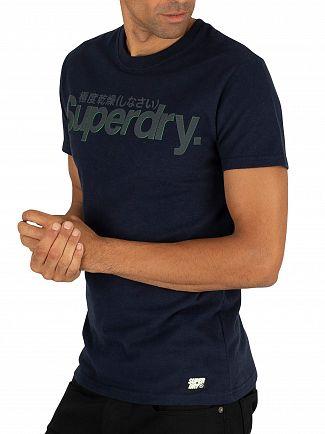 Superdry Navy Retro Sport Tonal T-Shirt