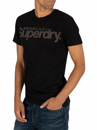 Superdry Black Retro Sport Tonal T-Shirt