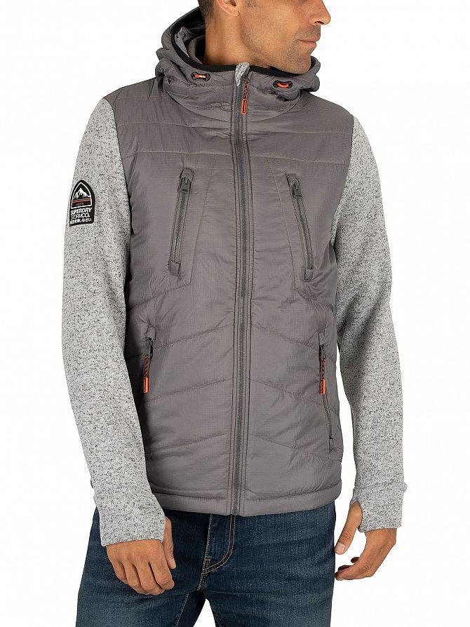 Superdry Silver Heather Marl Storm Hybrid Jacket