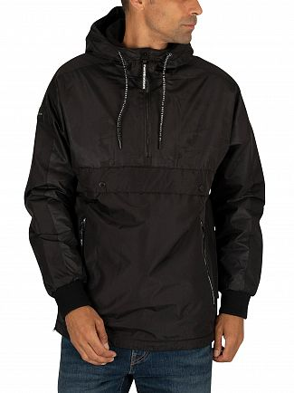 Superdry Jet Black Surplus Pop Over Hooded Jacket