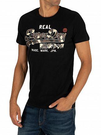 Superdry Black Vintage Logo Camo T-Shirt