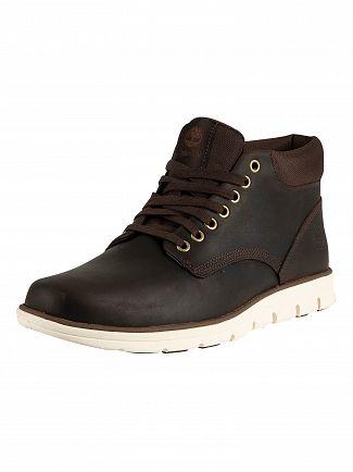 Timberland Dark Brown Full Grain Bradstreet Chukka Leather Boots