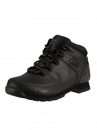 Timberland Black Tectuff Euro Sprint Mid Hiker Boots