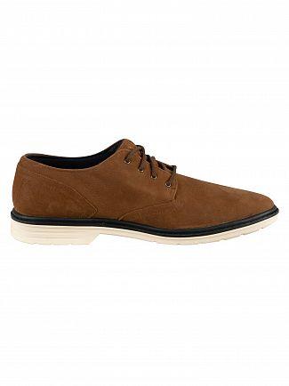 Timberland Rust Nubuck Sawyer Lane Oxford Leather Shoes