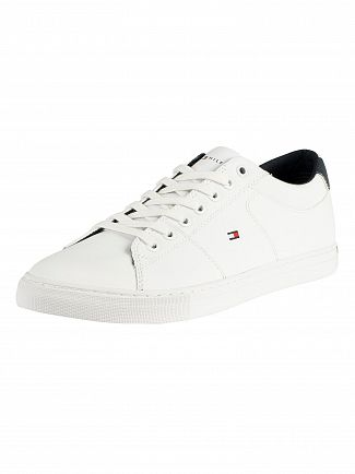 Tommy Hilfiger White Essential Collar Leather Trainers