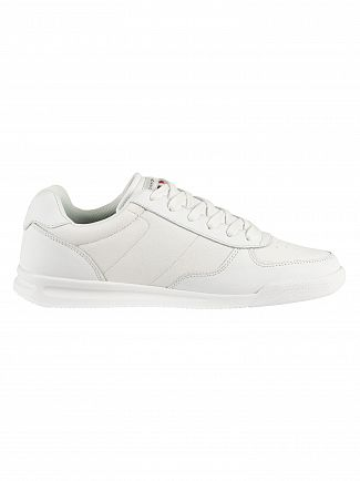 Tommy Hilfiger White Lightweight Leather Trainers