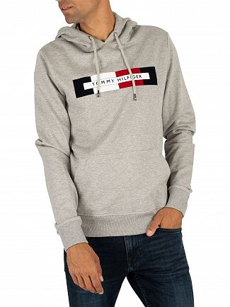 Tommy Hilfiger Cloud Heather Logo Pullover Hoodie