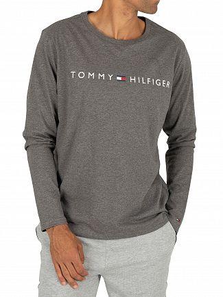 Tommy Hilfiger Dark Grey Heather Longsleeved Graphic T-Shirt