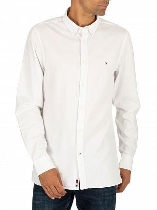 Tommy Hilfiger Bright White Slim 4 Way Stretch Slim Shirt