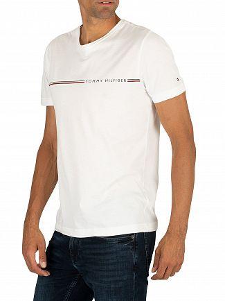 Tommy Hilfiger Bright White Stripe Logo T-Shirt
