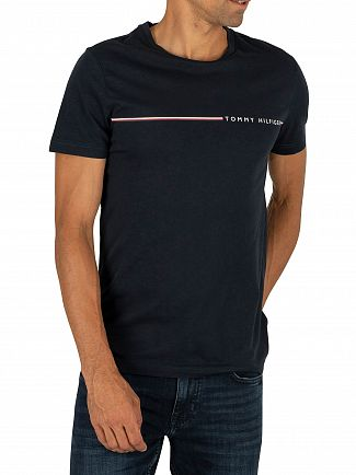 Tommy Hilfiger Sky Captain Stripe Logo T-Shirt