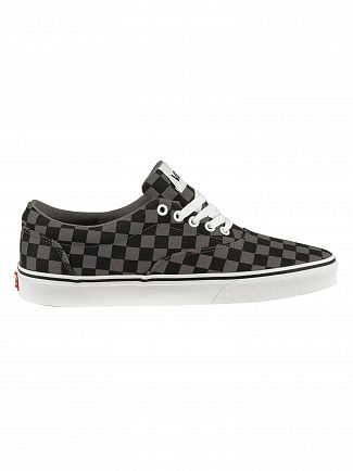 Vans Black/Pewter Doheny Checkerboard Trainers
