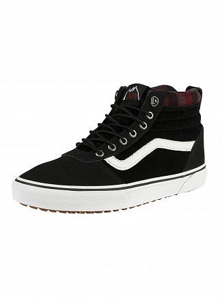 Vans Black/Plaid Ward Hi MTE Suede Boots