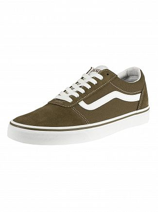 Vans Beech/White Ward Suede Canvas Trainers