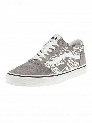 Vans Frost Grey/White Ward Suede Trainers