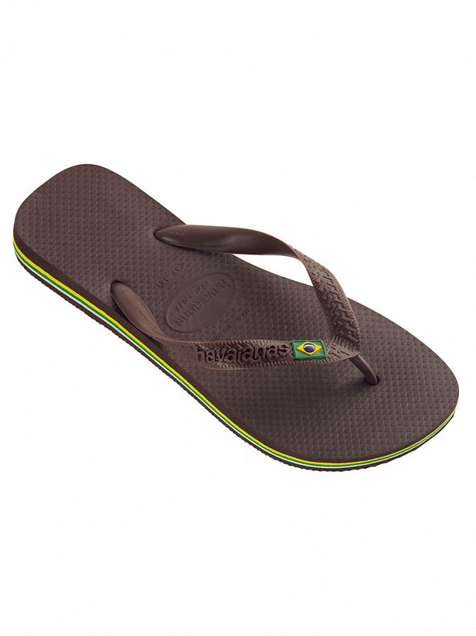 Havaianas Dark Brown Brasil Flip Flops