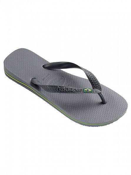 Havaianas Steel Grey Brasil Flip Flops