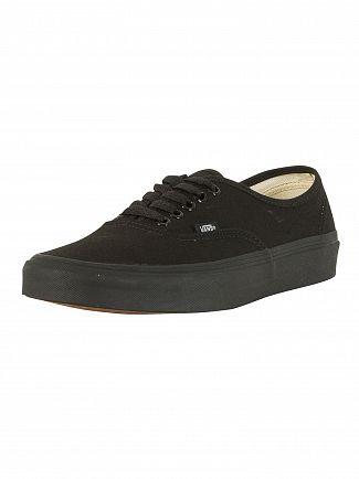 Vans Black/Black Authentic Trainers