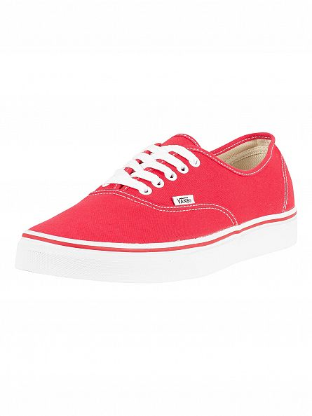 Vans Red Authentic Trainers