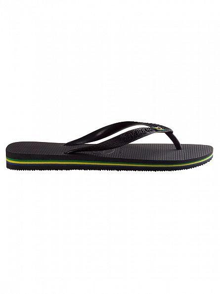 Havaianas Black Brasil Flip Flops
