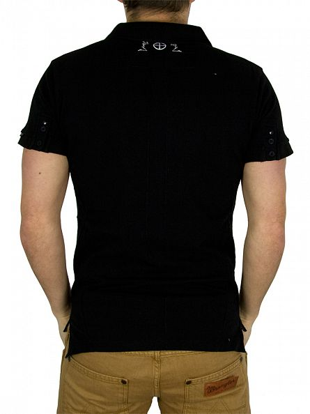 Religion Jet Black Polo Shirt