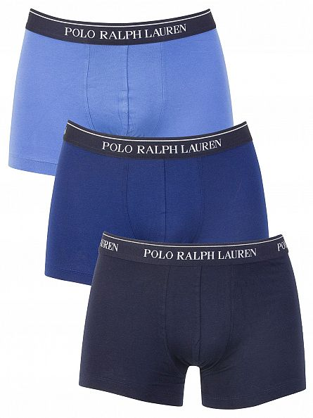 Polo Ralph Lauren Dark Navy/Navy/Blue 3 Pack Trunks