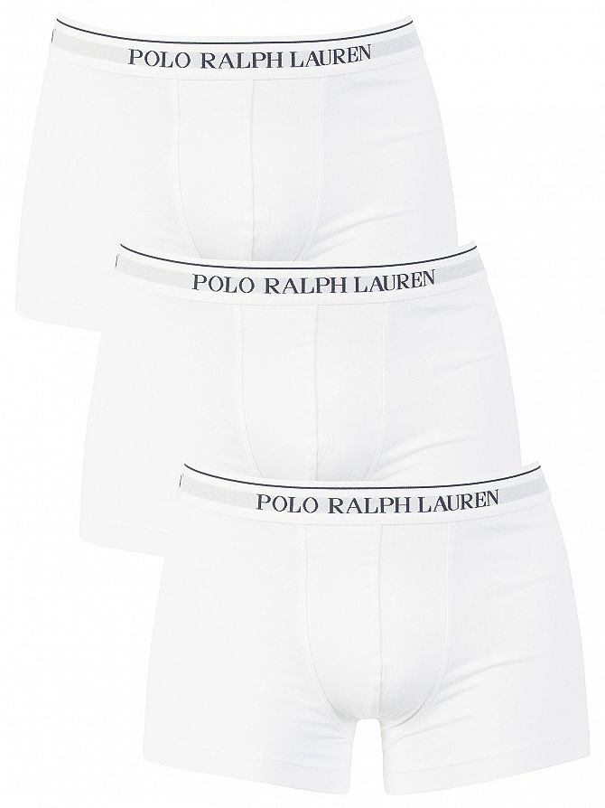 Polo Ralph Lauren White 3 Pack Trunks