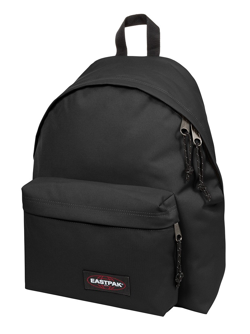 Eastpak Padded Pak R Leather Backpack In Black For Men: Eastpak Black Padded Pak R Rucksack Bag