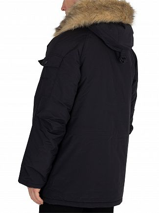 Carhartt WIP Black/Black Anchorage Parka Coat