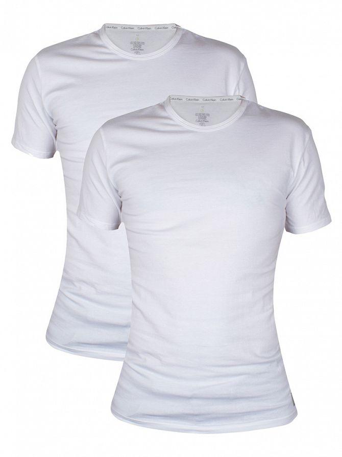 Calvin Klein White 2 Pack Crew Neck T-Shirts