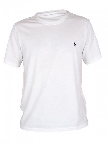 Polo Ralph Lauren White Logo Crew Neck T-Shirt