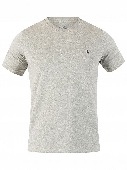 Polo Ralph Lauren Heather Grey Logo Crew Neck T-Shirt