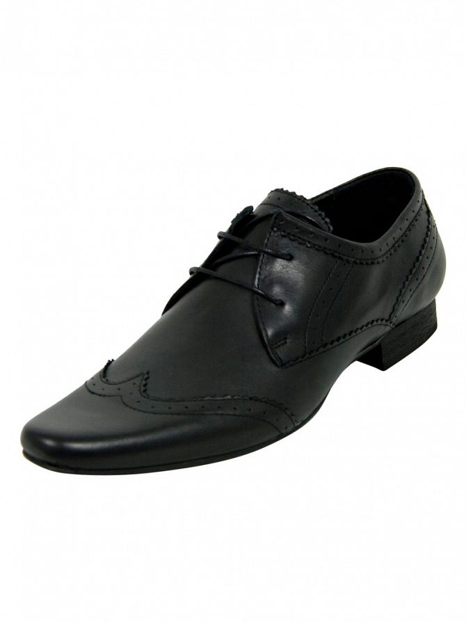 H by Hudson New Dye Black Ellington Shoes