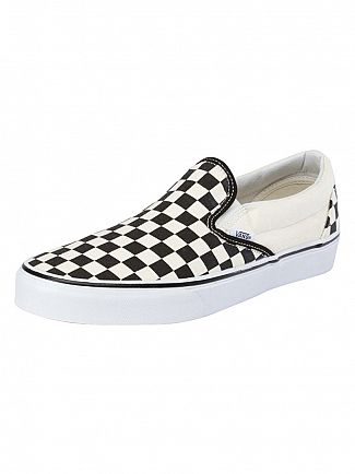 Vans Black/White Check Classic Slip On Trainers
