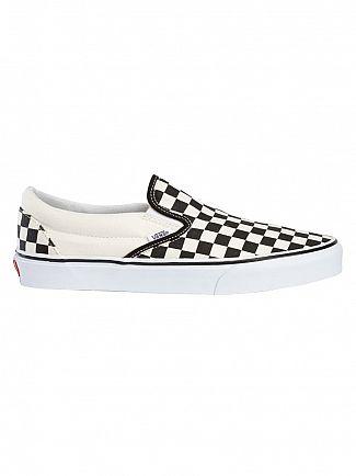 Vans Black/White Check Classic Slip On Trainers