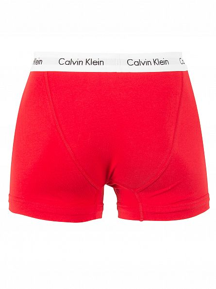 Calvin Klein White/Red/Blue 3 Pack Trunks