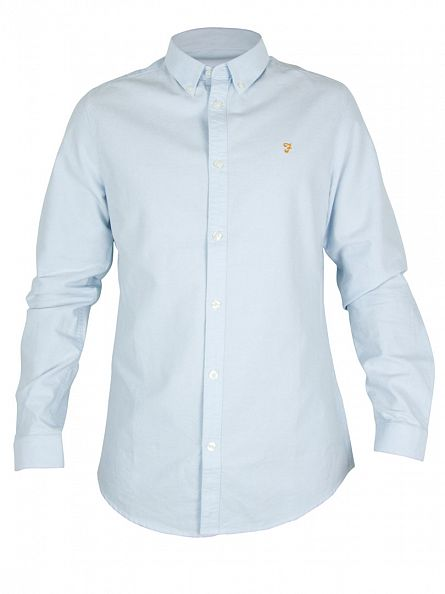 Farah Vintage Sky Blue The Brewer Button Down Shirt