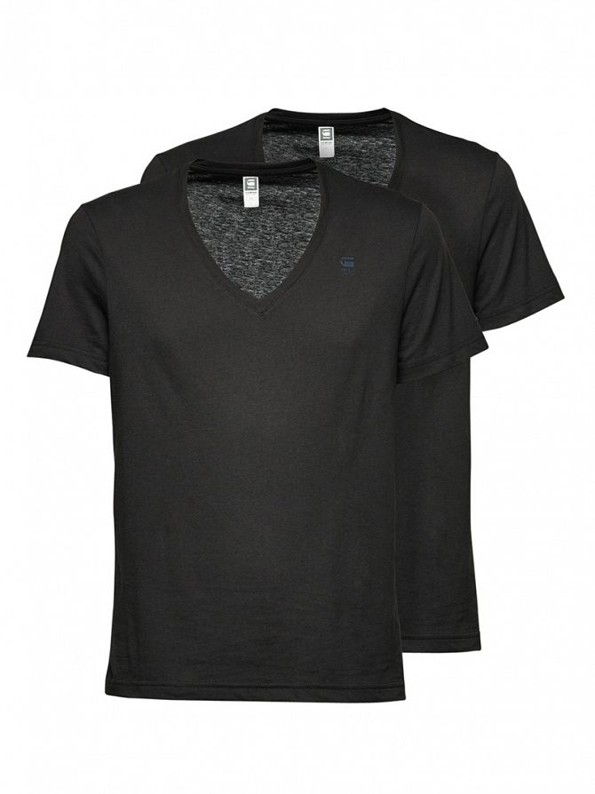 G-Star Black 2 Pack V Neck T-Shirts